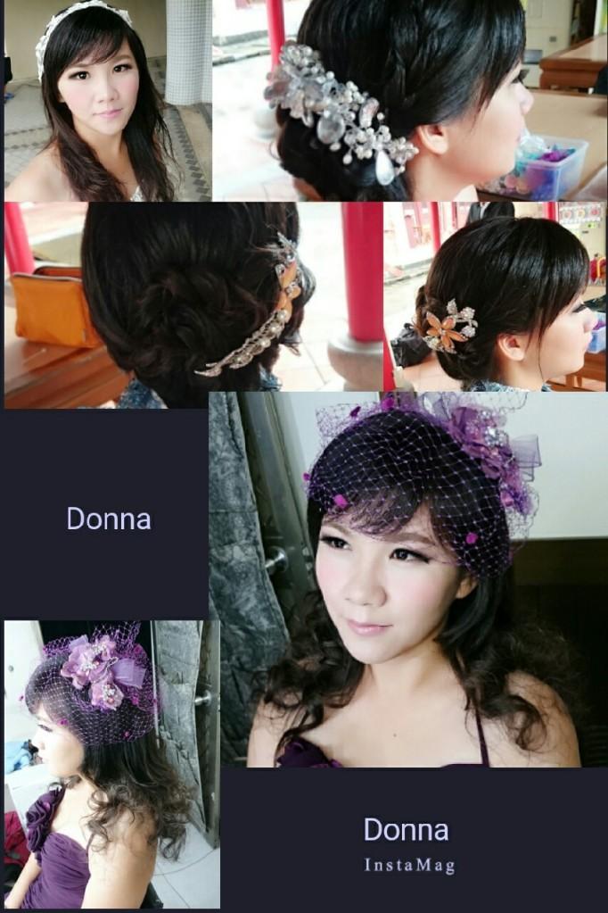 高雄新娘秘書 推薦新娘造型 新秘作品 甜美側編髮 氣質優雅線條 新娘包頭[2015-09-25]