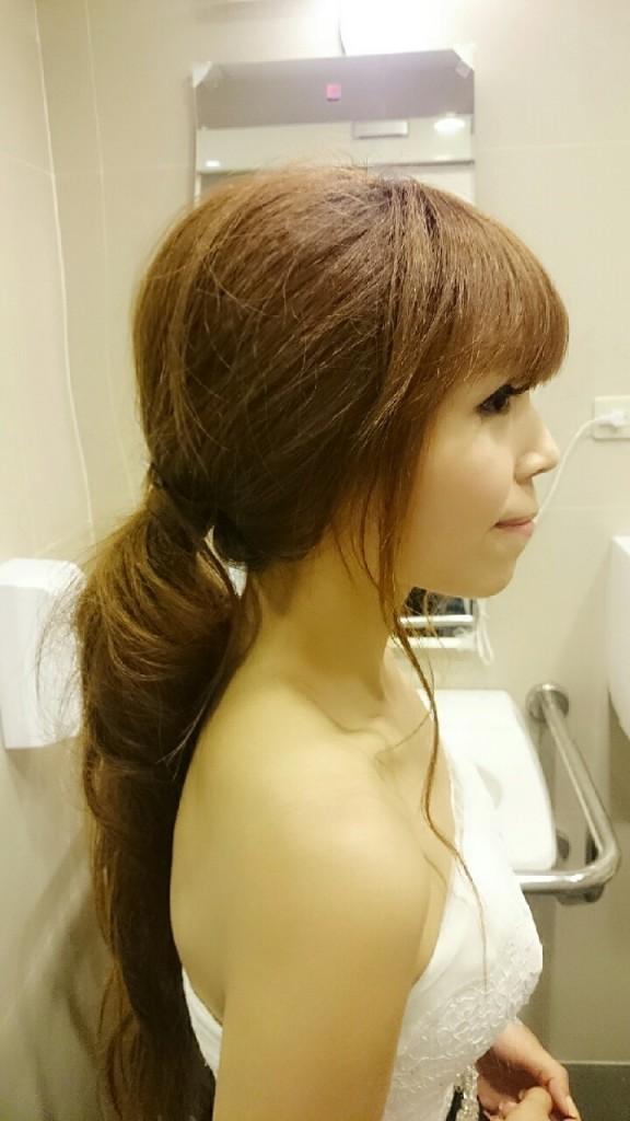 高雄新秘推薦:高雄韓式新祕 新娘指定造型 一單一雙眼皮調整 羅麗塔 羅麗塔風格 垂眼妝 眼下腮紅妝 日系風格 婚禮攝影